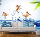 рыбки в стене