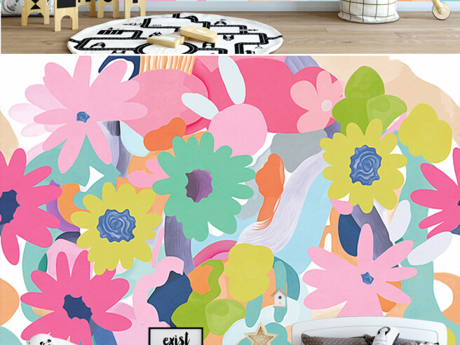Фотообои Разноцветные яркие цветы