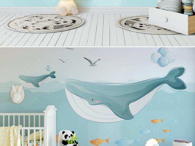Два кита и чайки