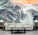 Фотообои рисованный водопад