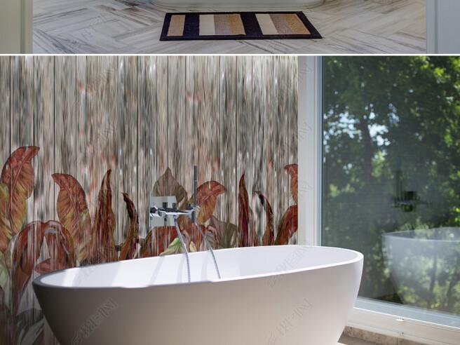 Фотообои Листья на девенянной текстуре