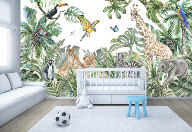 Фотообои джунгли в детской