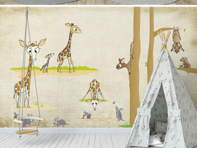 Жирафы и белки