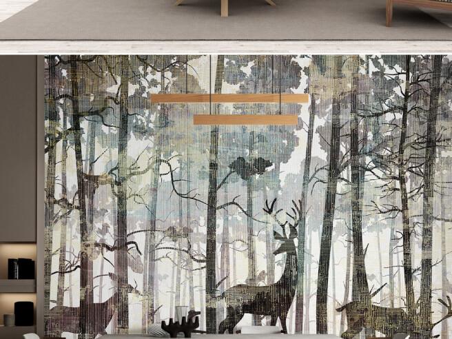 Фотообои Олени среди деревьев