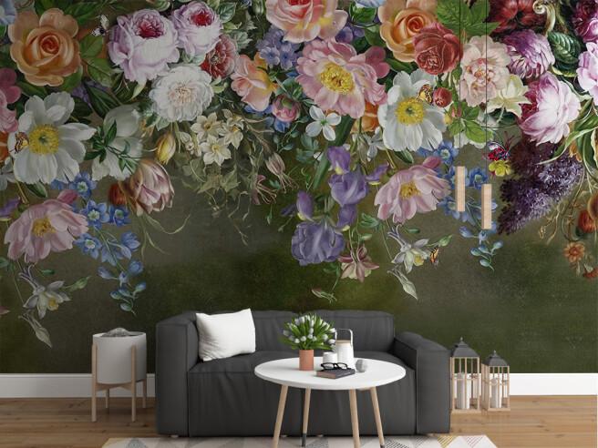 Фотообои Разноцветие на стене
