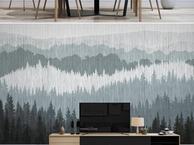 Фотообои Серый лес