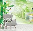 Фотообои зеленый тоннель