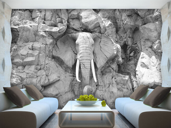 Слон из скалы