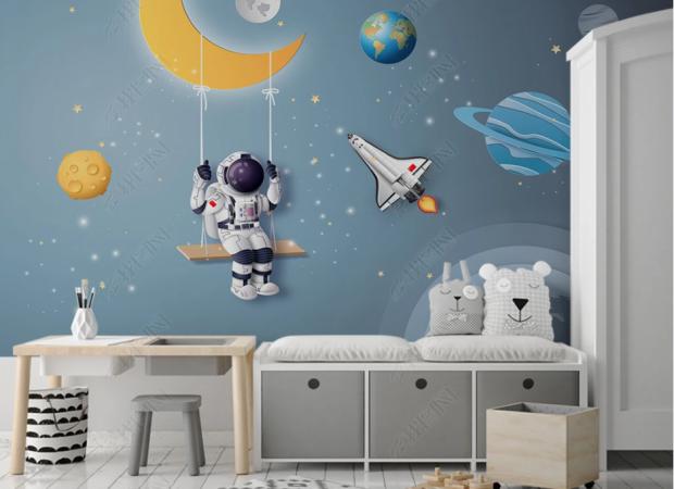 астронавт на месяце