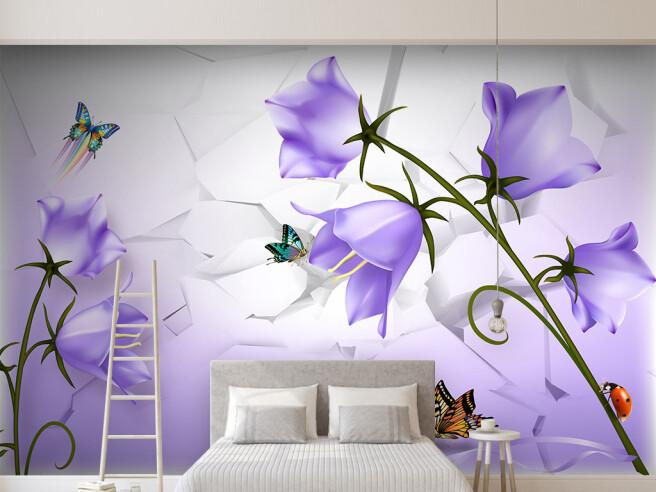 Бабочки на колокольчиках