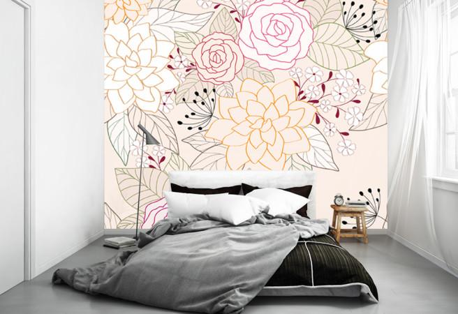 Фотообои линии цветов