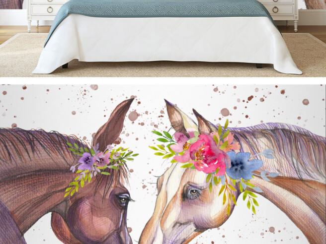 Лошади в веночках