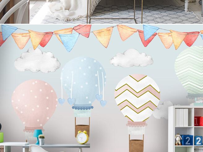 Фотообои Полосатые воздушные шары