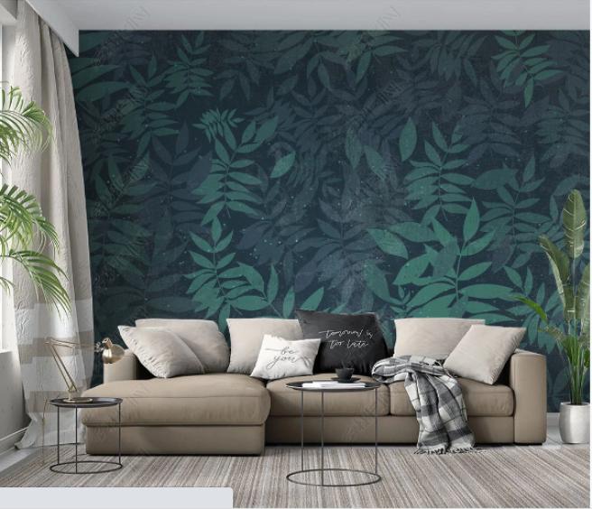 Фотообои лиственная стена