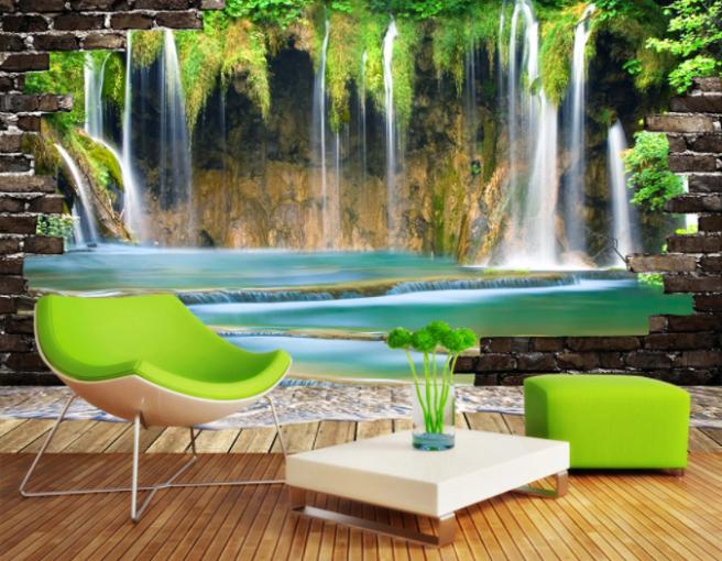 водопад в стене