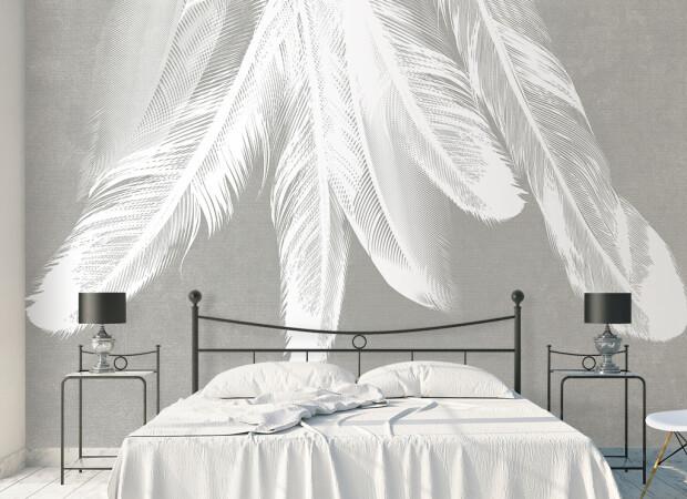 Елка из перьев