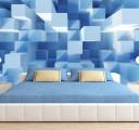 Фотообои Синие кубы