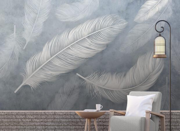 Крупные перья