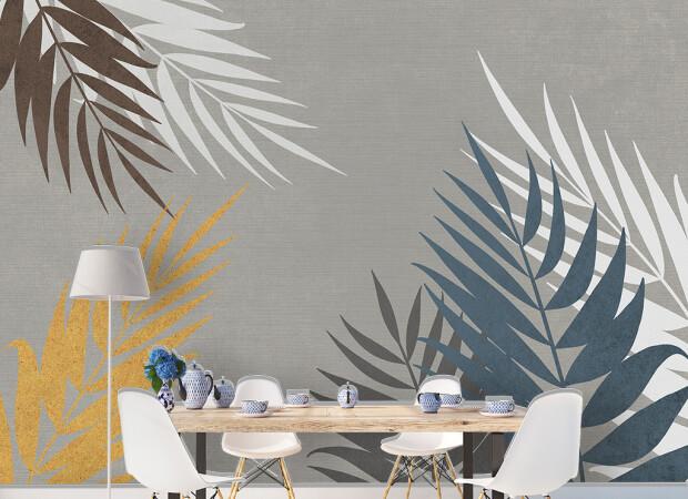 Листья пальмы в теплых тонах