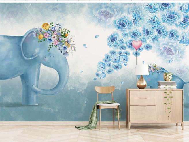 Фотообои Два слона и сердечко