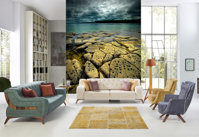 Фотообои каменистый берег