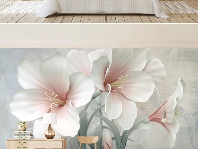 Фотообои Три большие лилии