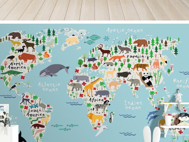 Густоналенная карта мира