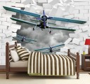 самолеты в стене