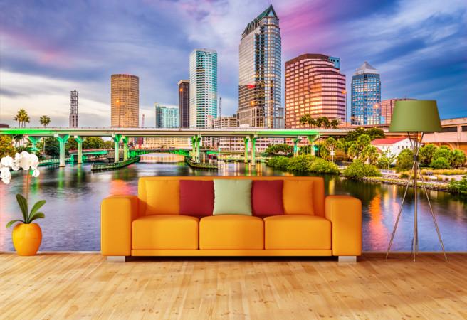 Фотообои цветной город