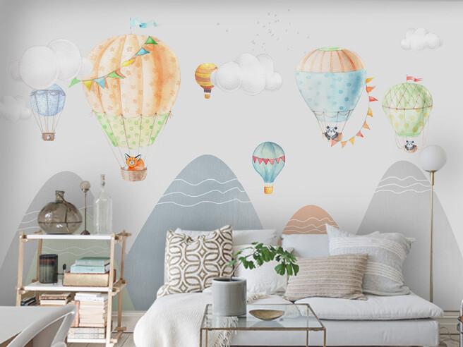 Фотообои Воздушные шары высоко в горах