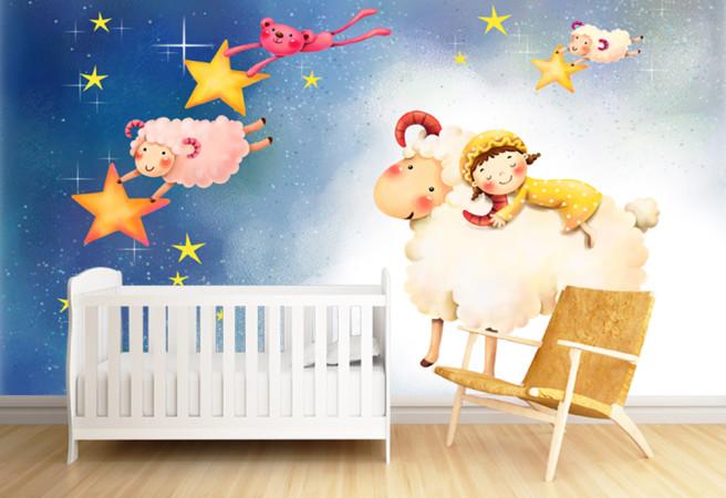 Фотообои звездные овечки