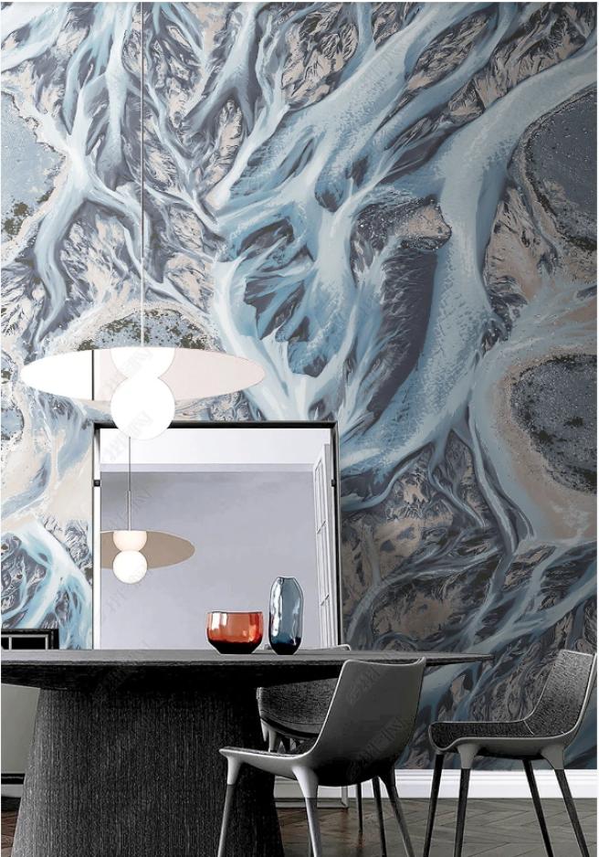 Фотообои флюид с мраморным разливом