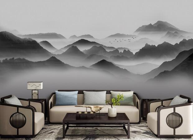 Черные горы в тумане