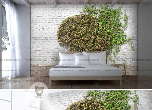 Виноград на кирпичной стене