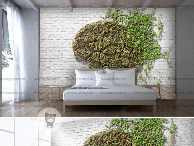 Фотообои Виноград на кирпичной стене