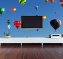 Фотообои разноцветные воздушные шары