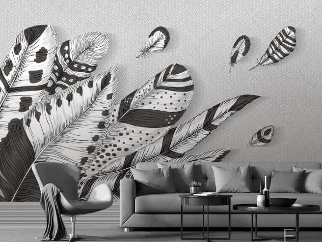 Перья в индейском стиле