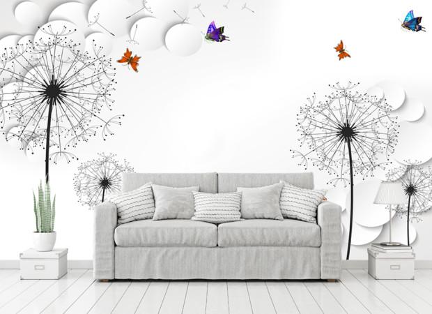 бабочки и одуванчики
