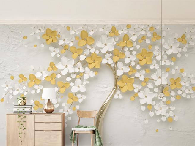 Золотое дерево с цветами