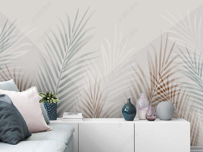 Фотообои Тонкие листья пальм