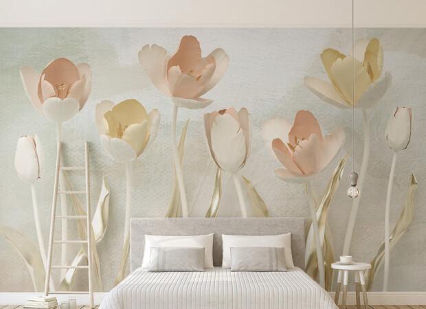 Бежевые тюльпаны