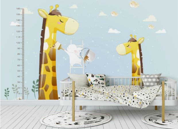 жирафы с ростомером