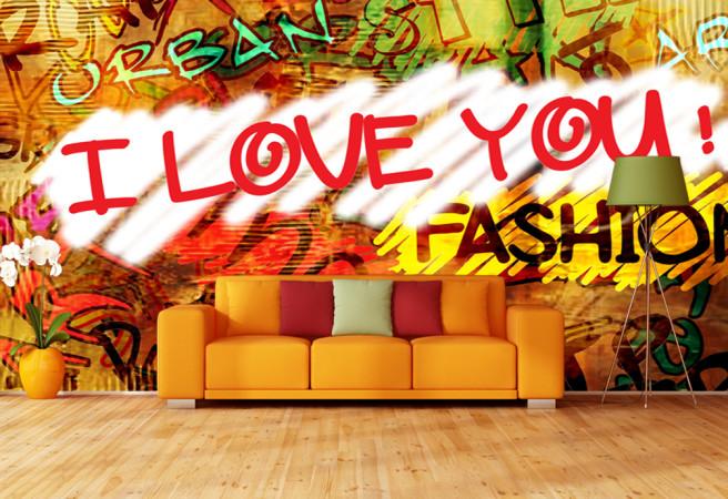 Фотообои Граффити в гостиной