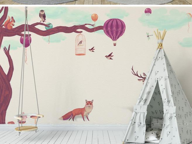 Фиолетовый олень и лиса