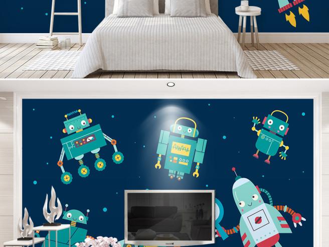 Фотообои Роботы в космосе