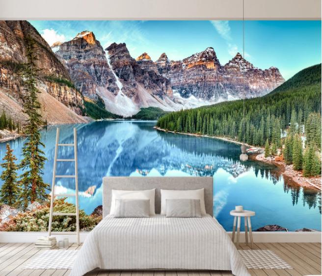 Фотообои горное озеро.
