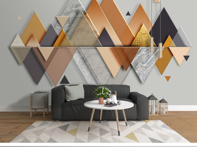 Фотообои Отражение треугольников
