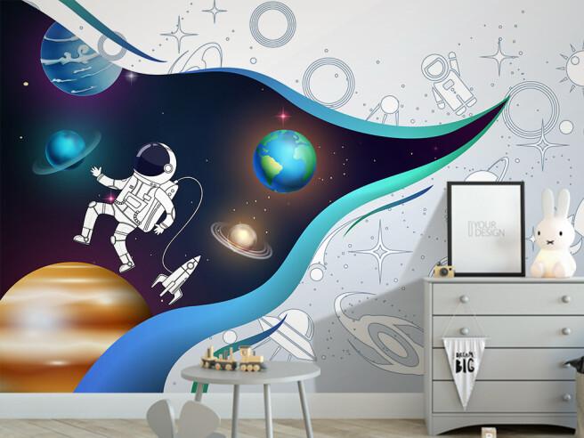 Фотообои Открытый занавес космоса