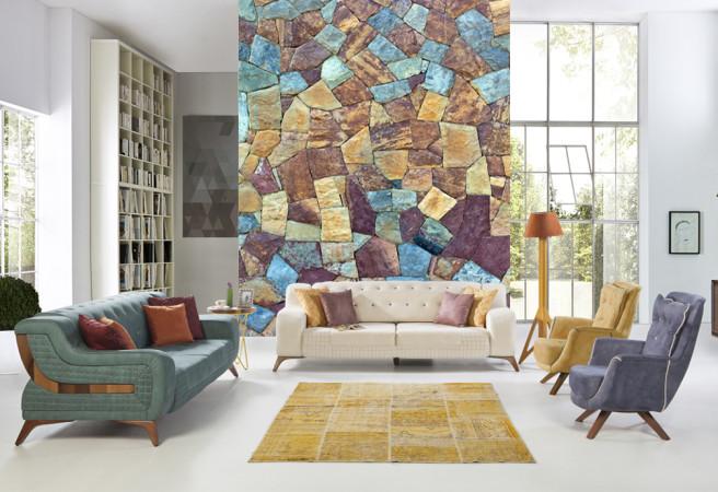 Фотообои разноцветные камни