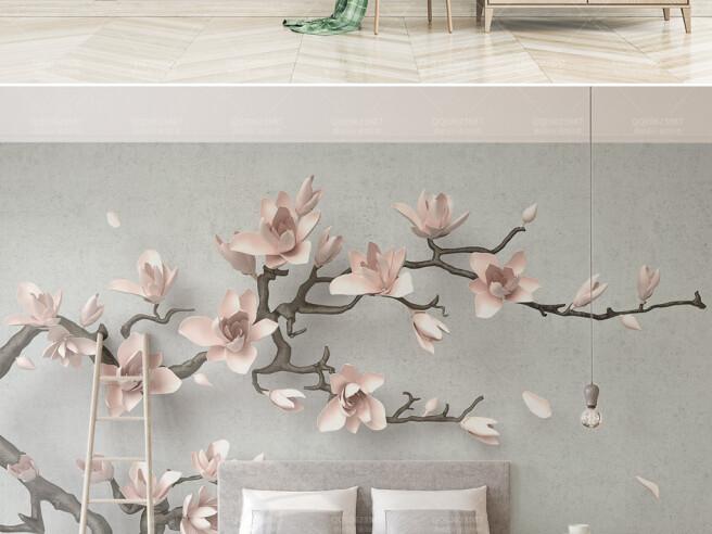 Фотообои Маленькие цветы на ветке